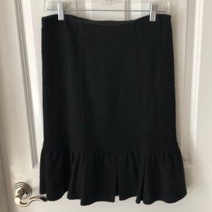 Nanette Lenore wool skirt with flutter hem